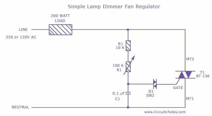 simple lamp dimmer fan regulator