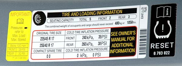 lowest tire pressure for a 44psi tire - Motor Vehicle Maintenance