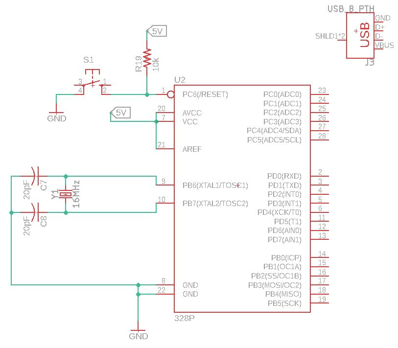 How to interface USB to custom Arduino Uno Schematic and programming