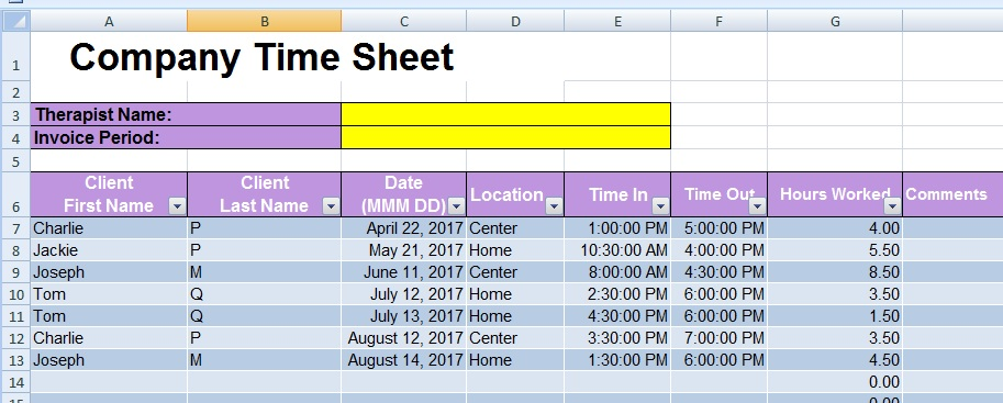 Transferring specific Info from one spreadsheet to another in Excel