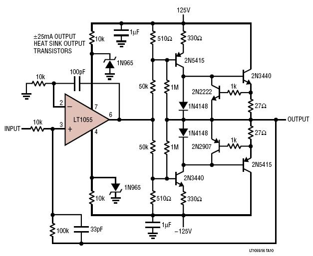 opamp based linear regulators schematic