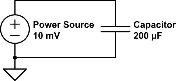 charging capacitor electrical circuit