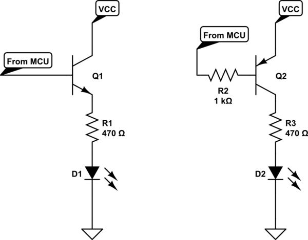 pnp transistor as a switch circuit diagram
