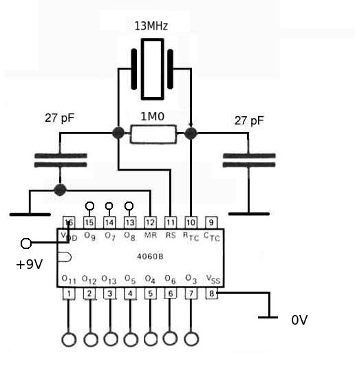 quartz crystal oscillator circuit