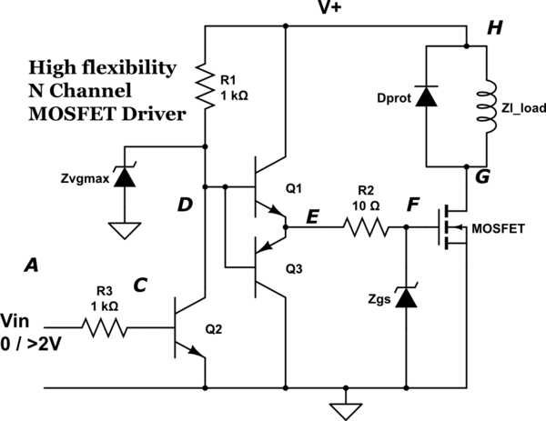 mosfet led driver circuit