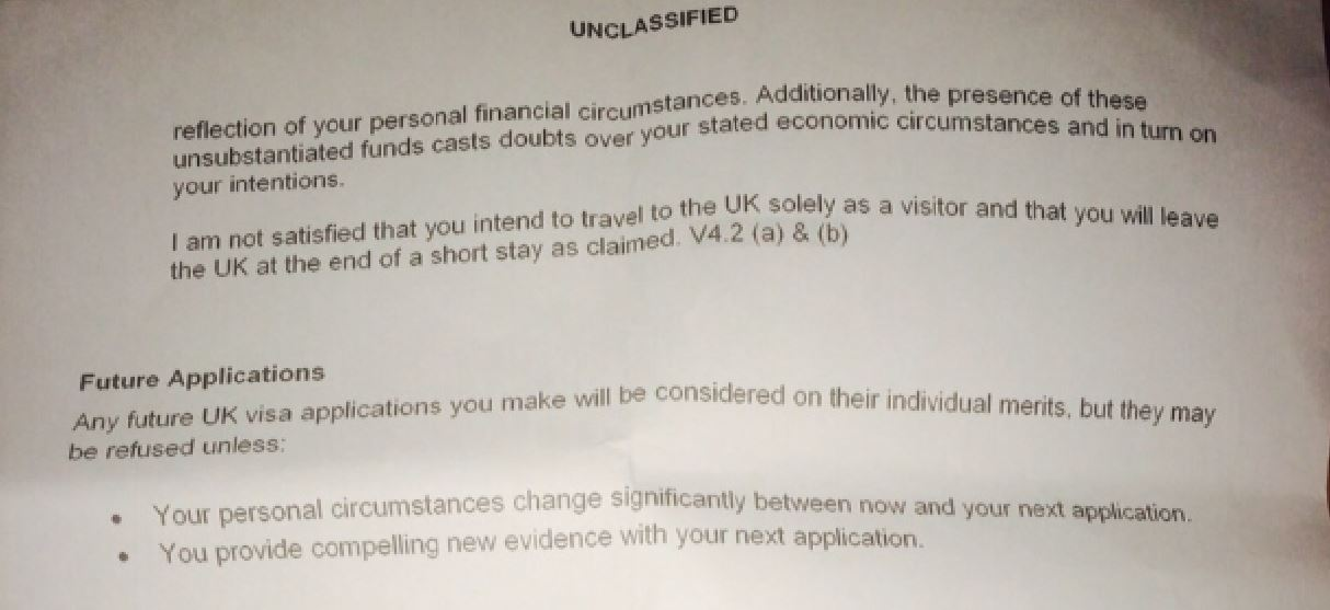 Application For Uk Standard Visa Twice Refused What Next