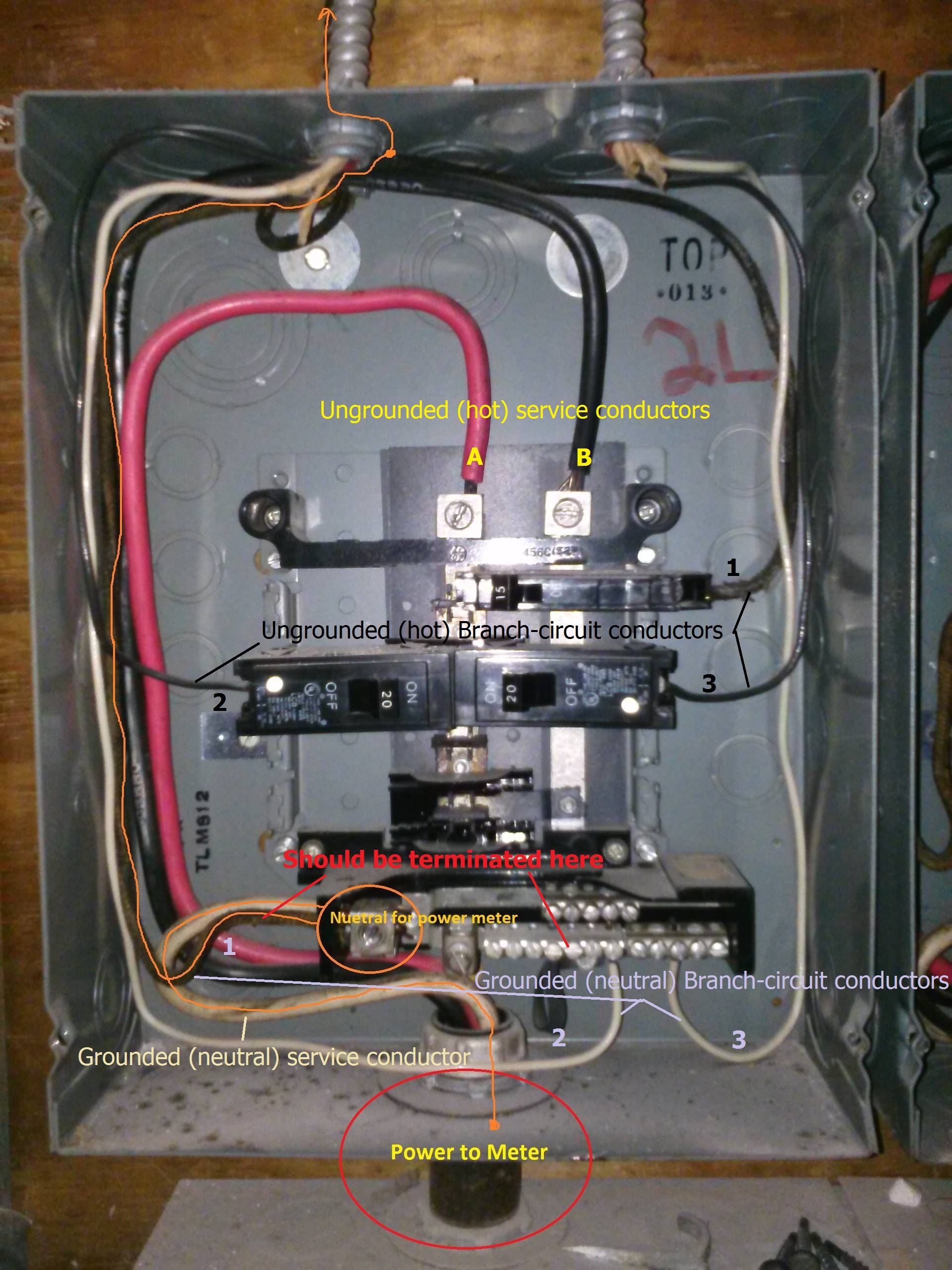 100 Amp Breaker Box Wiring Diagram Label Electrical Should A Neutral Wire Ever Be Connected To