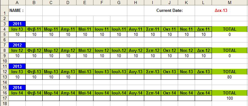 microsoft excel - What functions can I use to track subscriptions