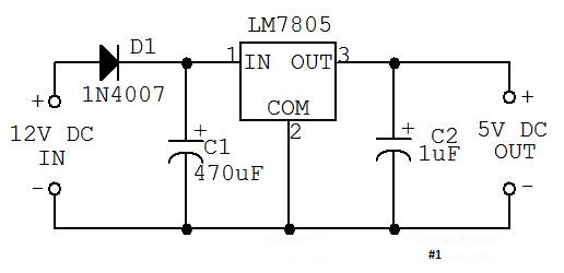 need help about a 7805 regulator circuit
