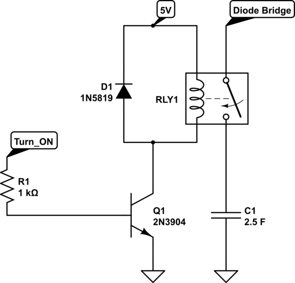 power relay latching