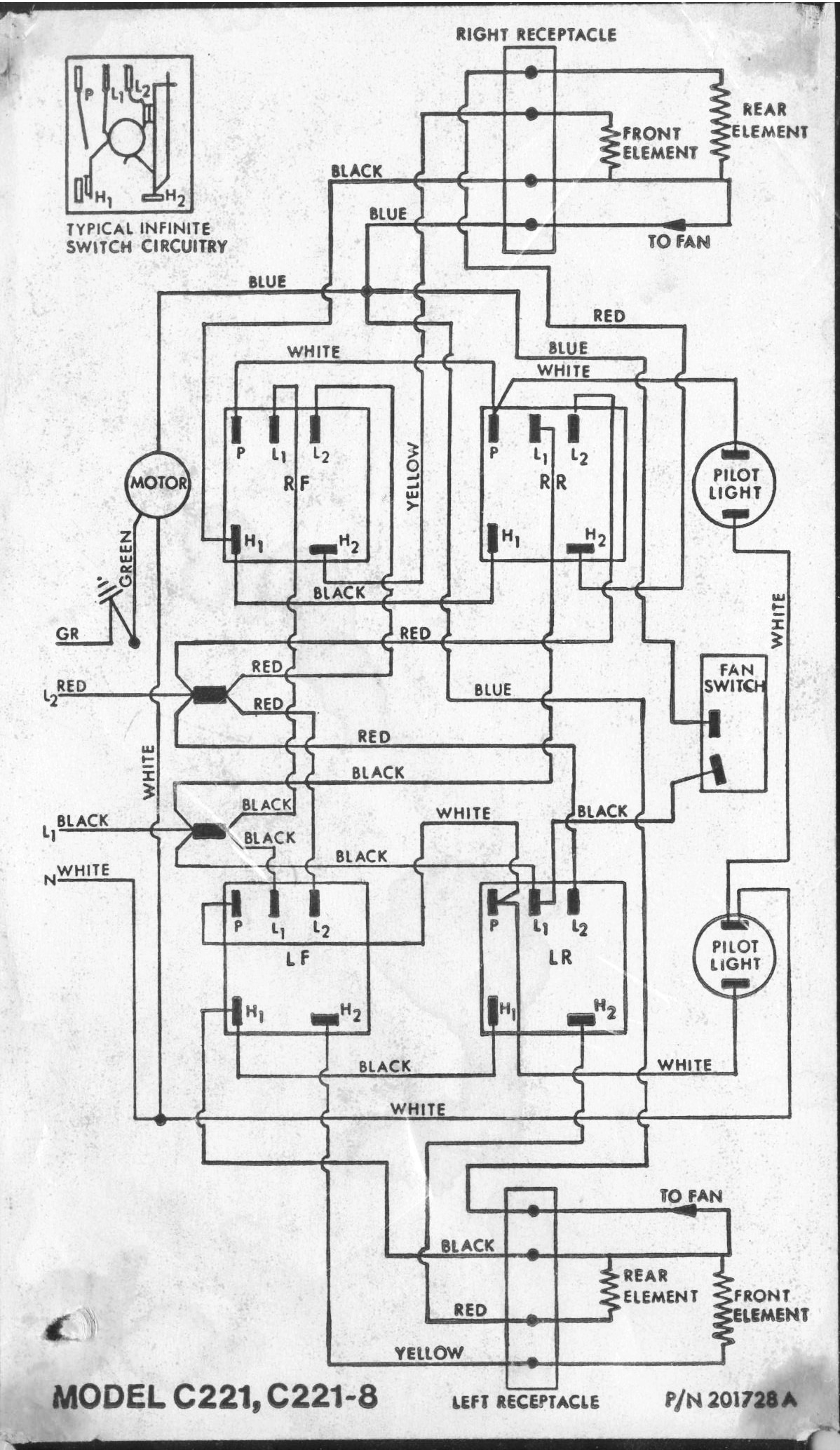 wiring diagram for oven element