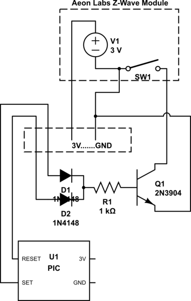 on off touch switch circuit schematic