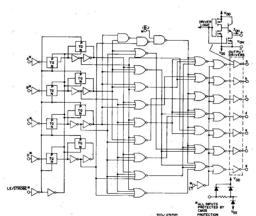 circuit simulator 7segment led decoder