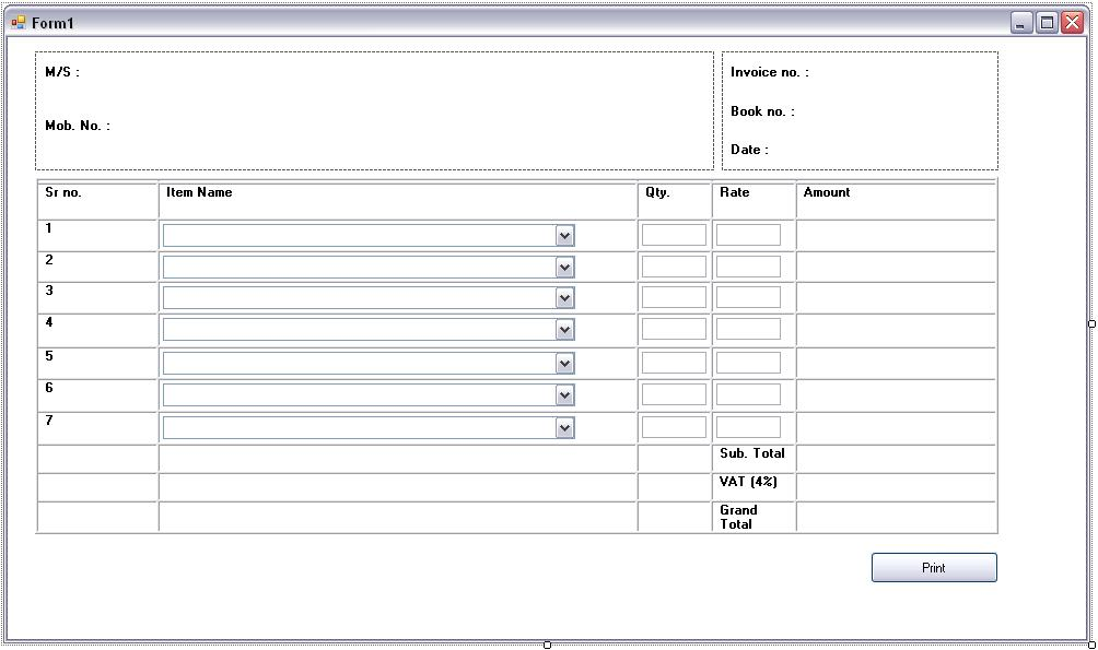 Invoice Print in vbnet or c# - Stack Overflow - how to print invoices