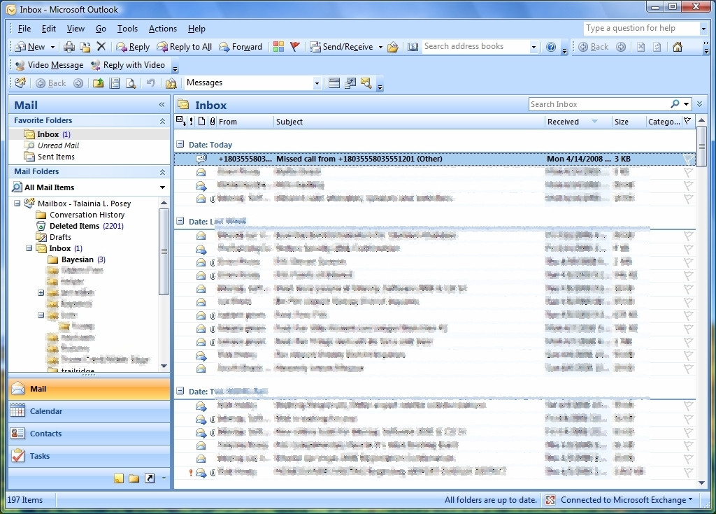 How can I make the Outlook 2007 inbox look like this again? - Super User