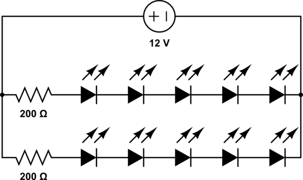 multiple leds in a series circuit