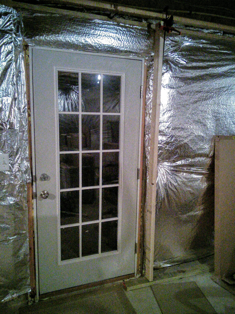 How To Frame Pictures Basement How To Frame A Wall Around Existing Exterior Door