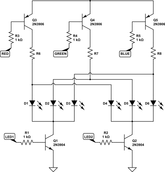 parallel led schematic here is the first circuit
