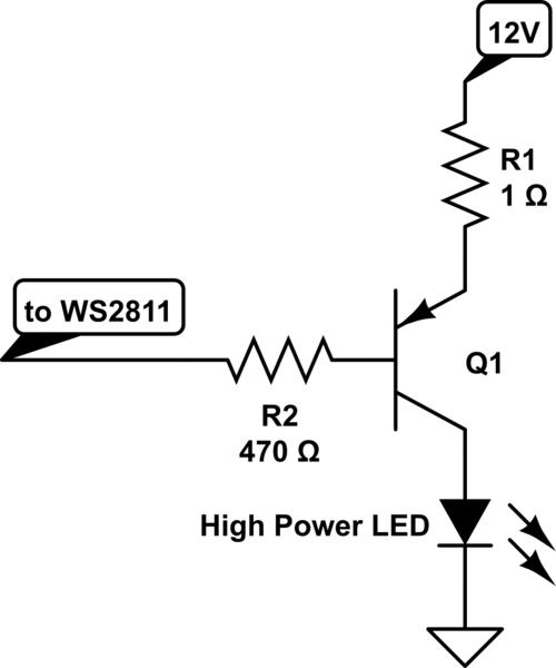 1w led driver circuit