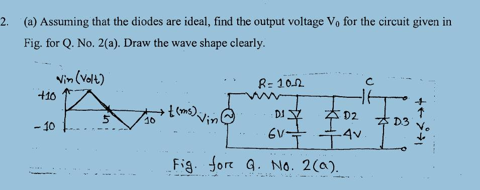 Diode - draw output waveform - Electrical Engineering Stack Exchange
