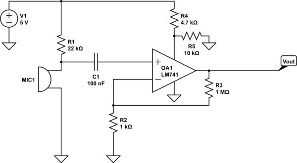 electret mic preamp circuit