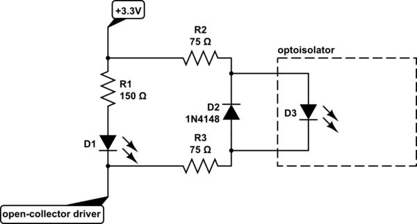 optoisolator circuit schematic