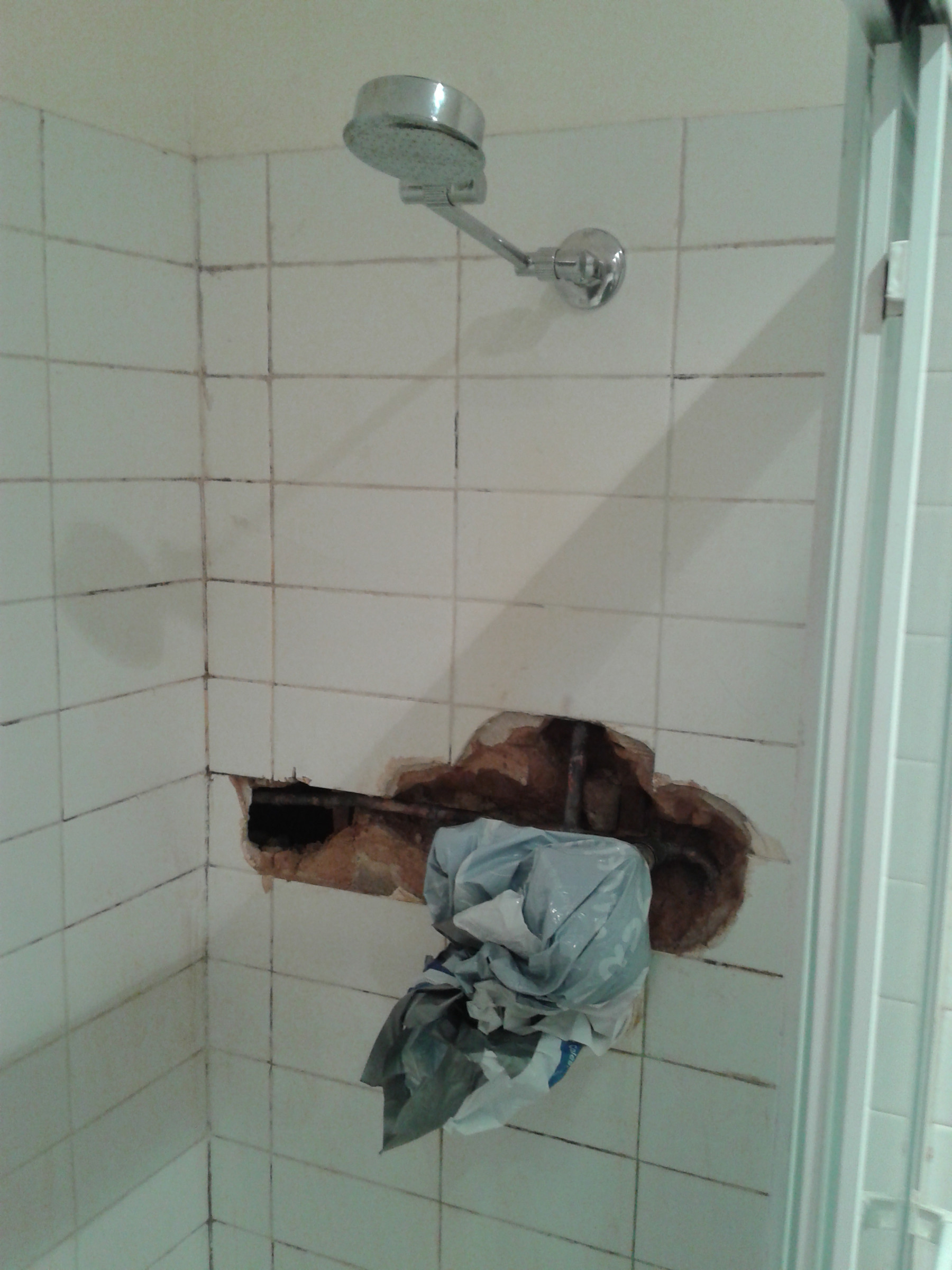 Making Piping Easily Accessible Inside Shower Home Improvement Stack Exchange