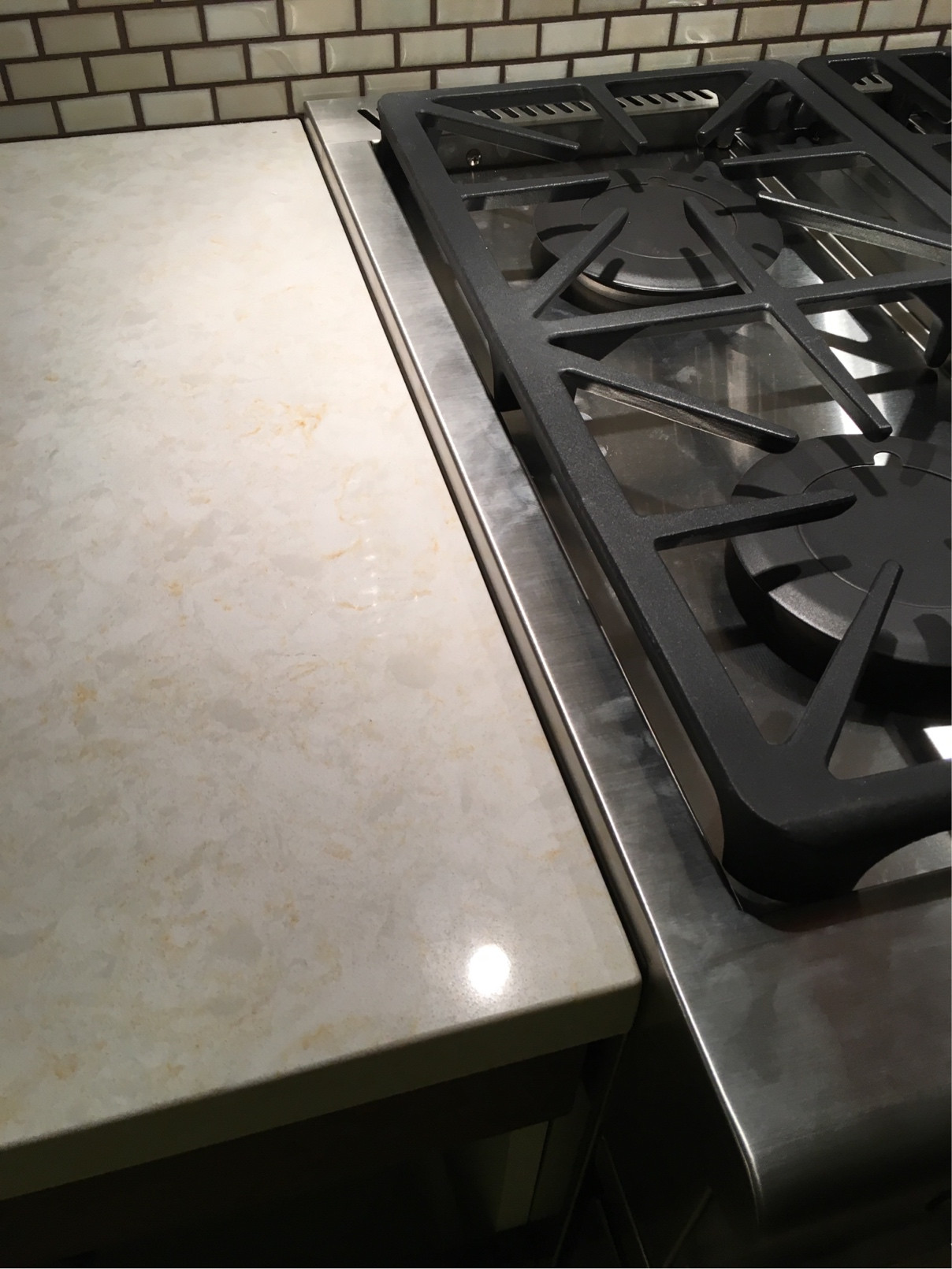 Gap Between Stove And Countertop Caulking Sealing Space Between Counter And Stainless