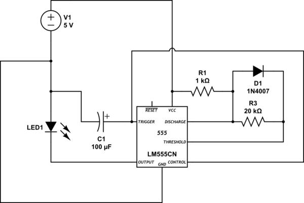 blinking led circuit 555