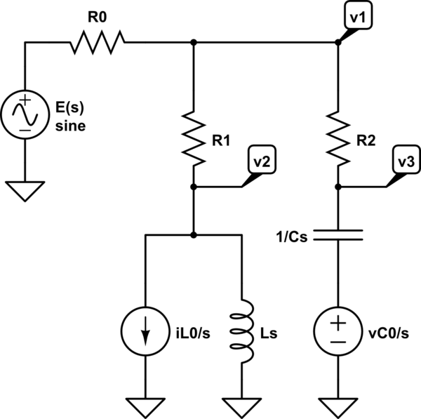 analysis how to solve a transient circuit electrical engineering