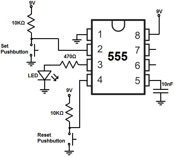 555 bistable circuit