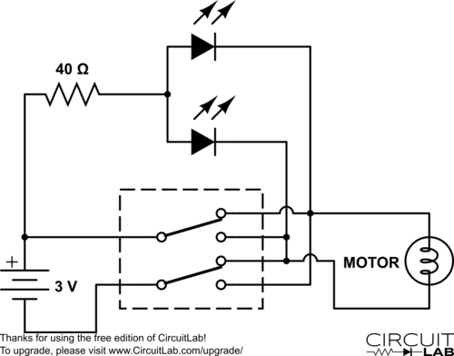 led circuit with a switch