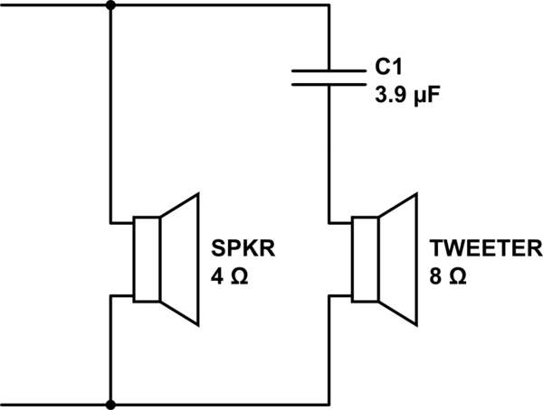 diagram for wiring 8 ohm mid range speakers