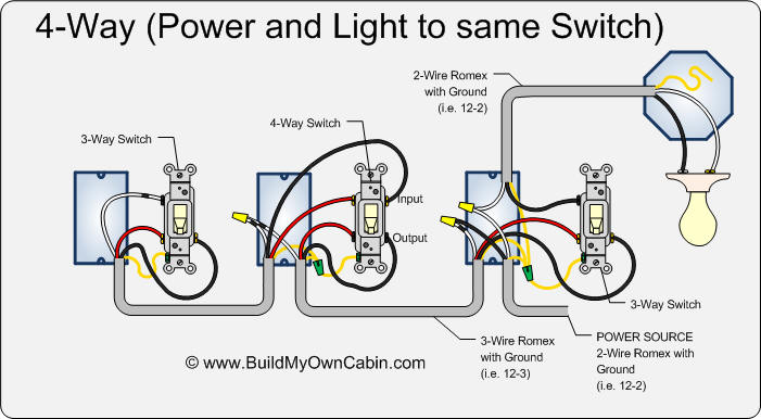 Four Way Switch Wiring House Wiring Diagram