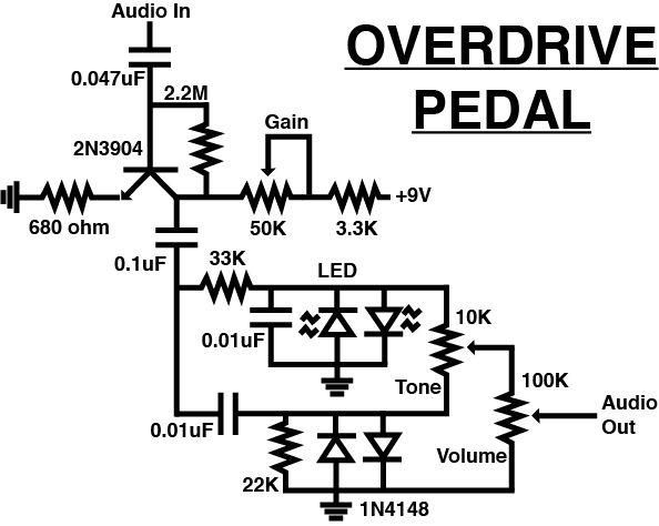 easy delay pedal schematic