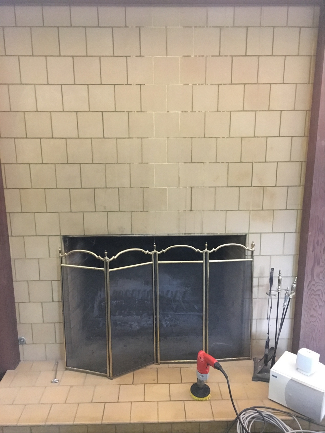 Cleaning A Fireplace Cleaning How To Clean Fireplace Grout Home Improvement Stack