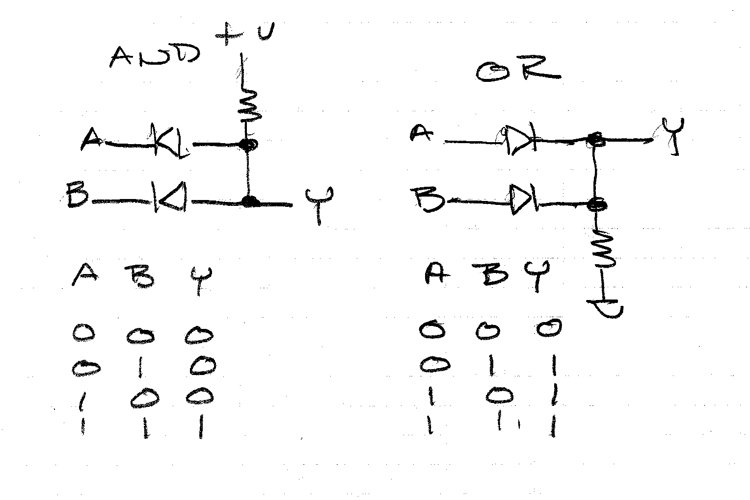 circuit diagram arrow pointing resistor