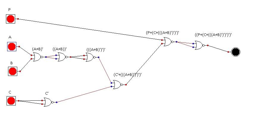 logic - convert circuit to nor only gates - Mathematics Stack Exchange
