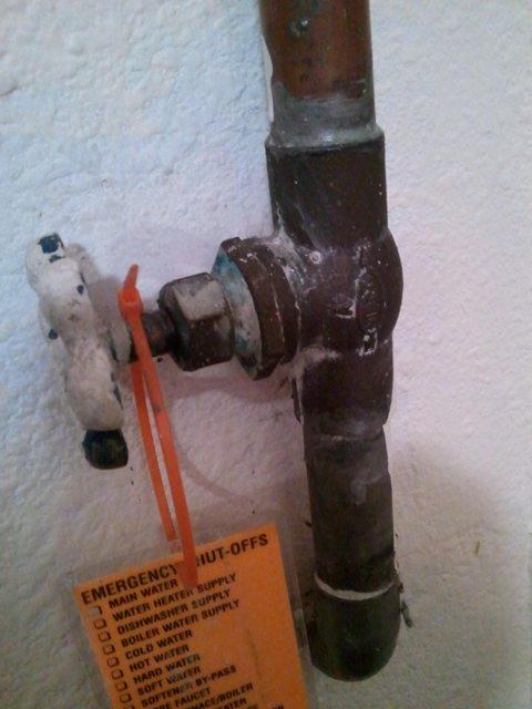 Plumbing - How Can I Repair A Slow Drip At The Main Water Shutoff