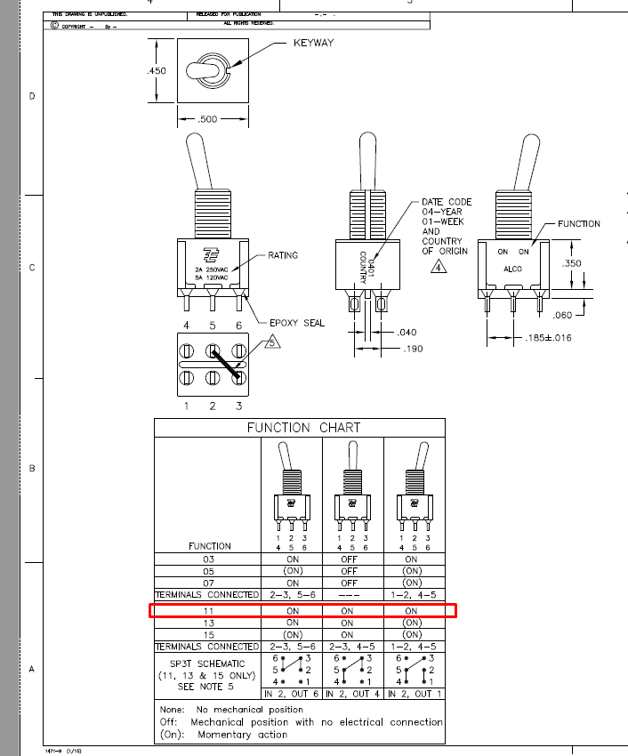 mini wiring diagram toggle switch 3 position