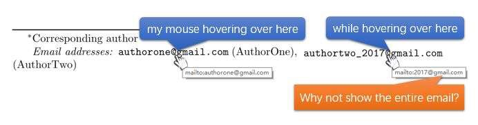 author - How to add an email address with an underscore in the