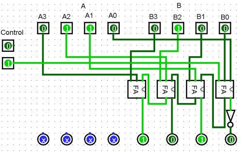 digital logic - How to fix my designed calculator circuit using