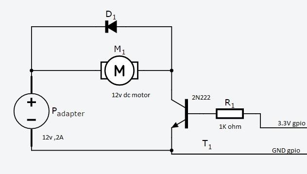 dc motor controller using transistor tip31