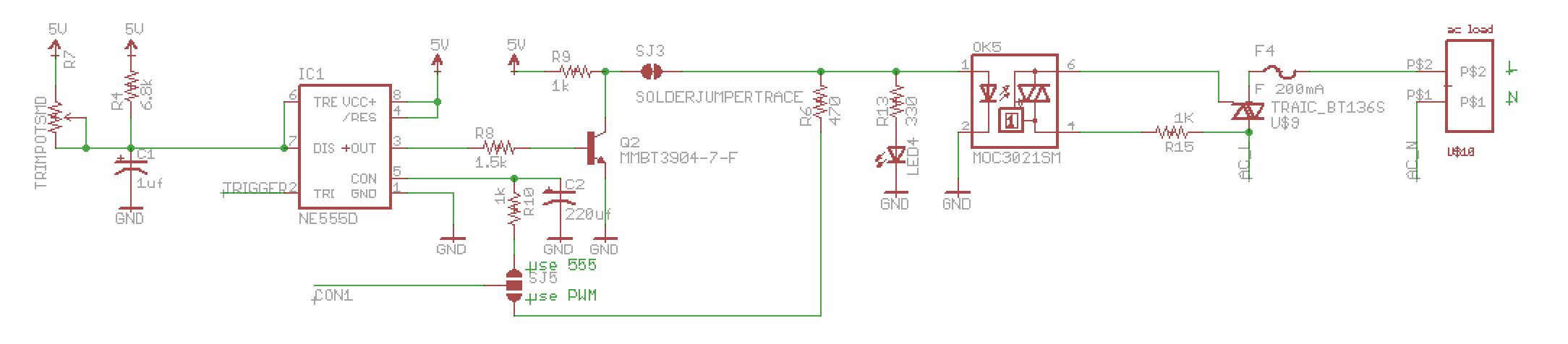 Ac Trouble With Triac Driven Dimmer Circuit Auto Electrical Wiring Tv Remote Control Tester Diagram Tradeoficcom