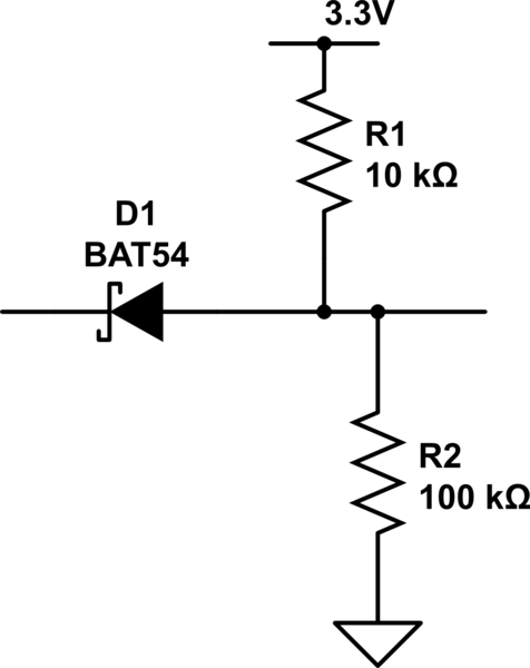 figure schematic diagram of the level shifting circuit