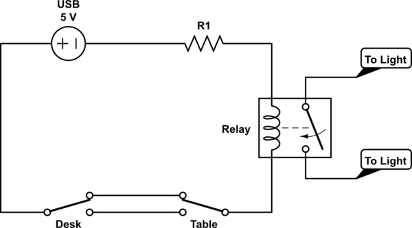 wiring a light in the middle of a circuit