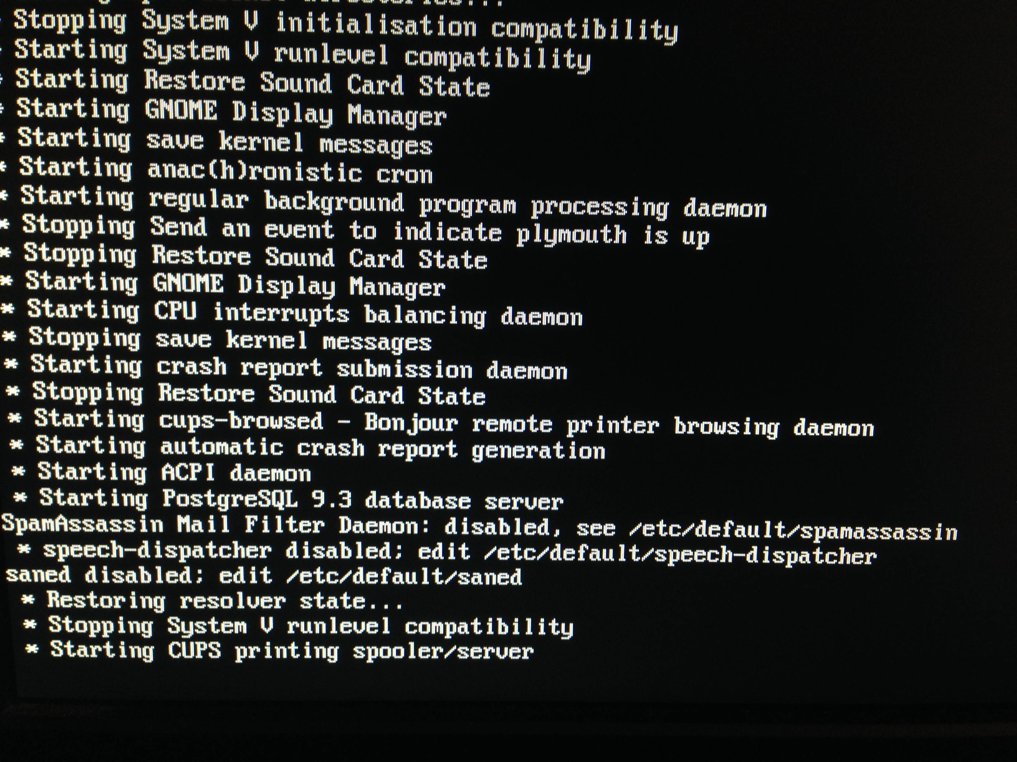Boot Ubuntu 1404 Stay To The Loading Page After An