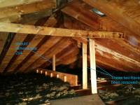 walls - Should a board connecting a beam in the attic to a ...