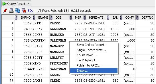 How to export query result to csv in Oracle SQL Developer? - Stack - excel developer