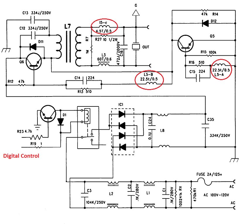 ultrasonic cleaner circuit diagram